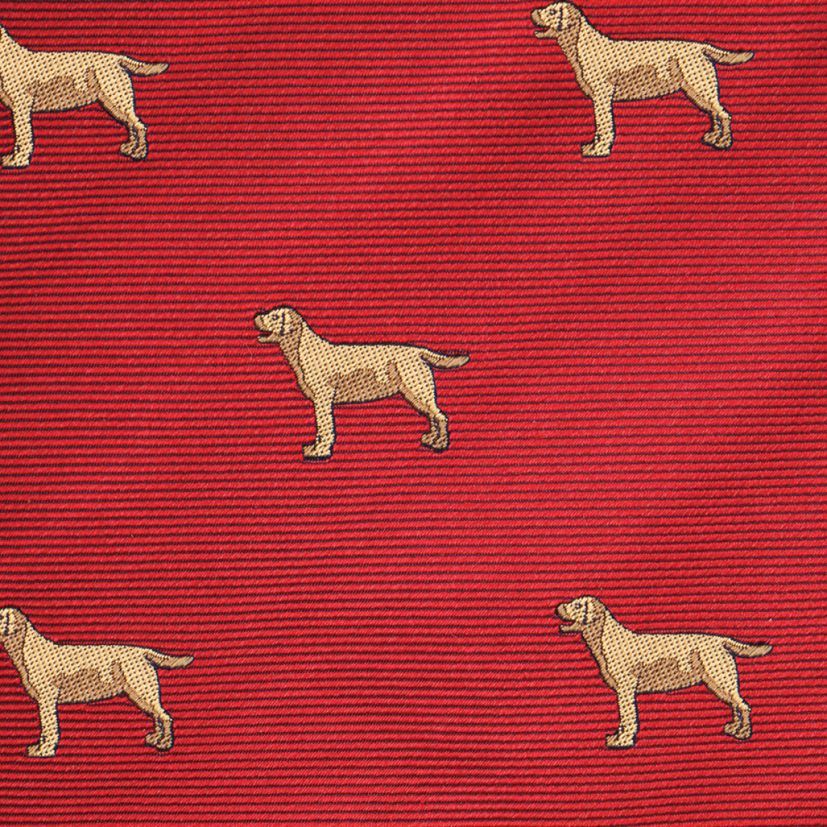 Woven Yellow Lab Gent - Red
